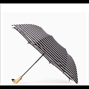 NWT KATE SPADE FRENCH STRIPE UMBRELLA WOODEN 🦆